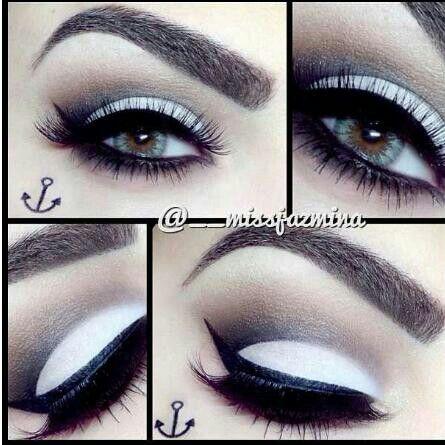 Black and white MAKEUP IDEAS! Pinterest - Black And White Makeup Ideas