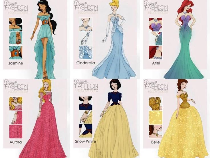 Платья диснеевских принцесс своими руками