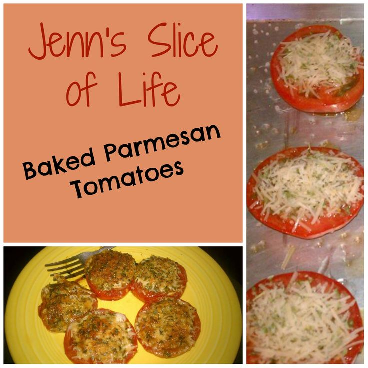 Baked Parmesan Tomatoes | Low Carbs | Pinterest
