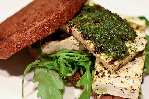 Grilled chimichurri tofu sandwiches | Ring of Fire | Pinterest