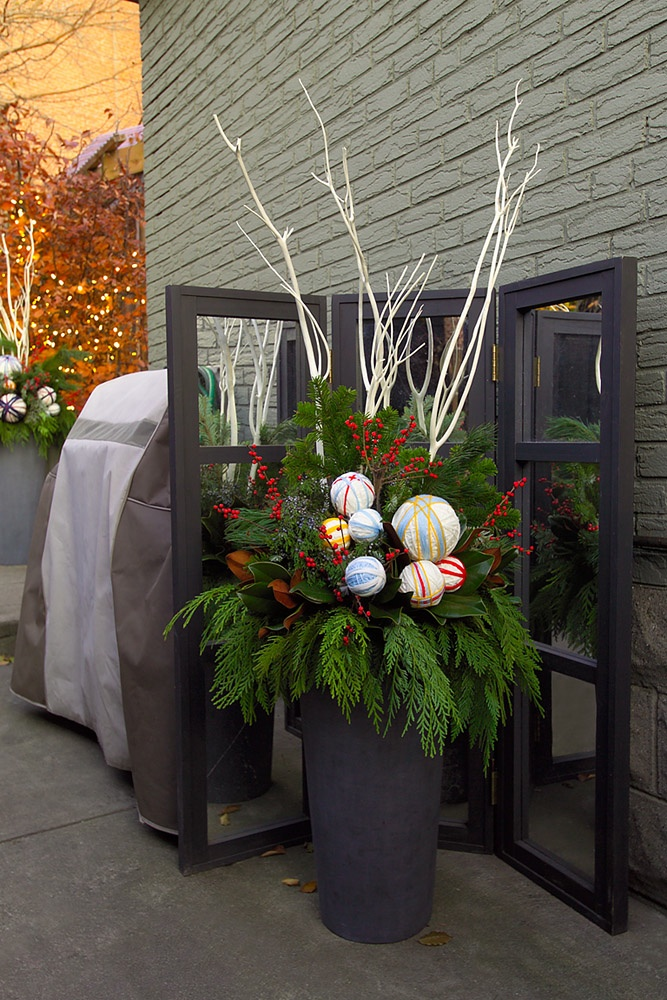 Botany Outdoor Holiday Arrangements Winter Planters