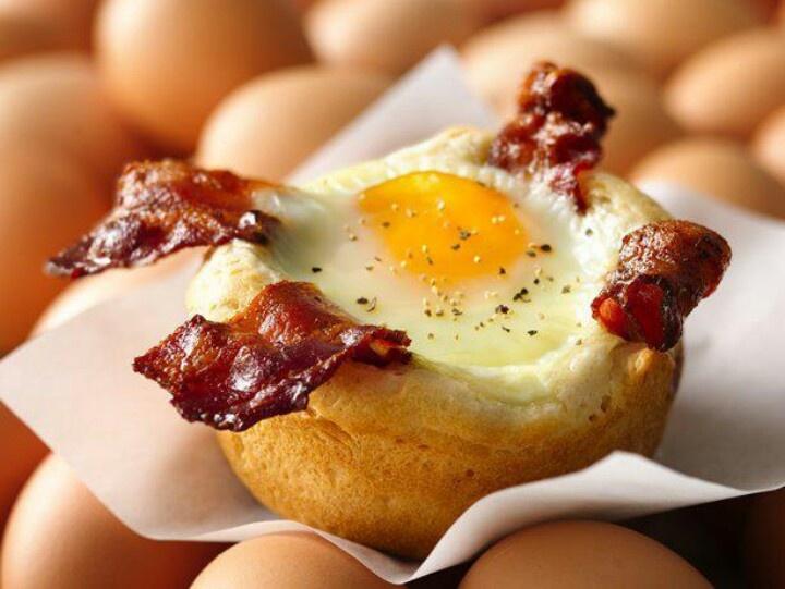 Bacon n egg cupcakes | Recipes | Pinterest