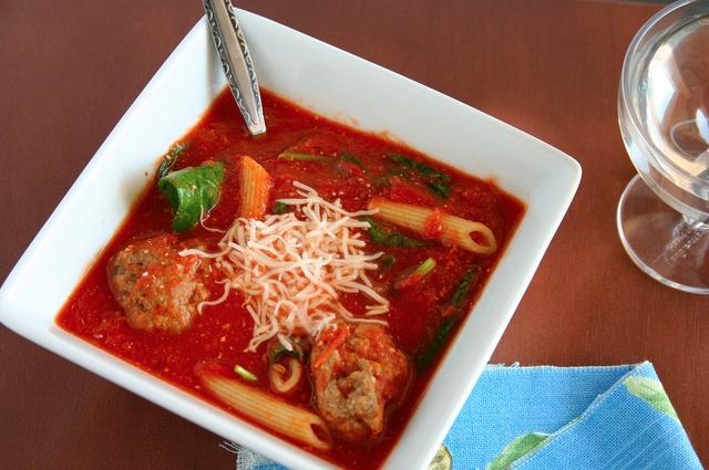 Spaghetti and Meatball Soup | Yummy Yummy, Yum Yum. | Pinterest