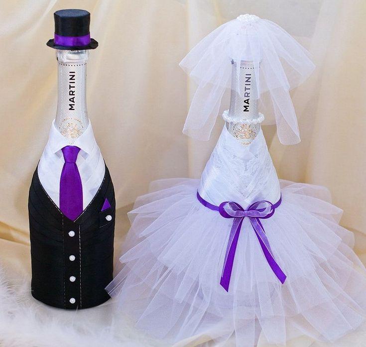 Украшаем бутылки для шампанского своими руками фото 680