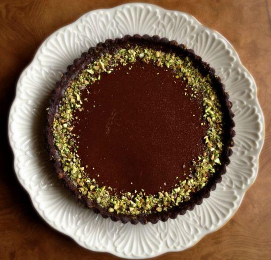 Milk Chocolate-Pistachio Tart Recipe — Dishmaps