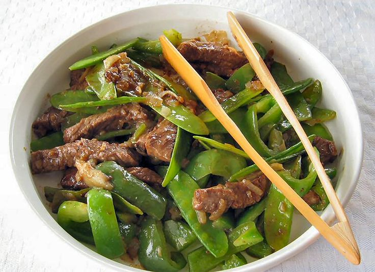 Chinese-Style Beef with Snow Peas | FOOD | Pinterest