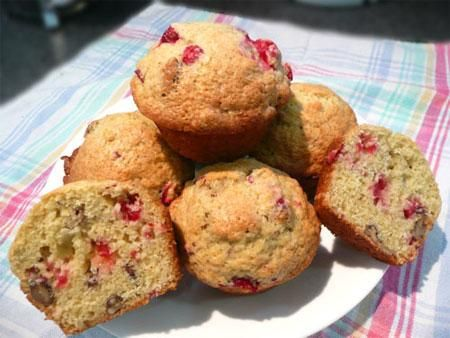 Cape Cod Cranberry Muffins. Photo by Mikekey