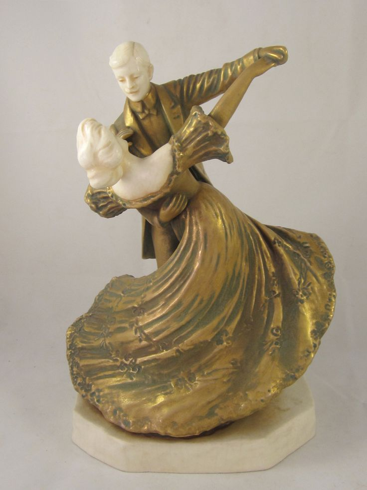 Romantic Porcelain & Gilt Dancing Duo, early 20th c.  from RTF Antiques & Appraisals - Antique Inspiration Exclusively on Ruby Lane