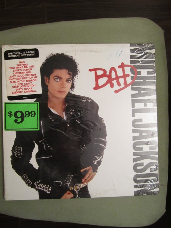 Michael Jackson  Bad  SEALED Vinyl Record LP by CuriousCatVintage, $29.00