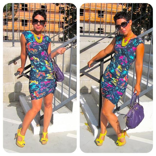 www.mimigstyle.com  BCBG Dress + Coach Bag