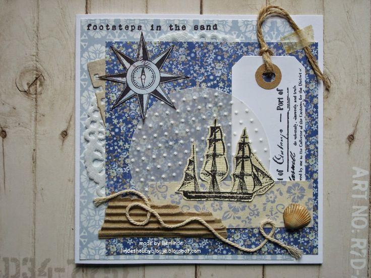 linde's hobbyblogje: Footsteps in the sand