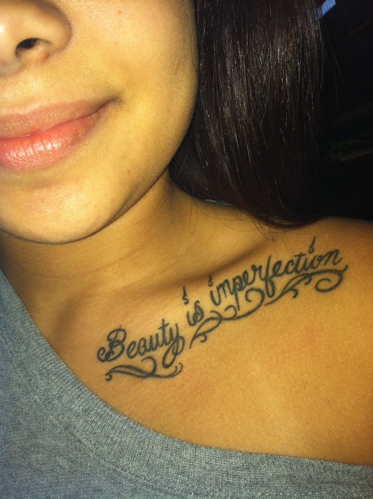 Cute collar bone tattoo