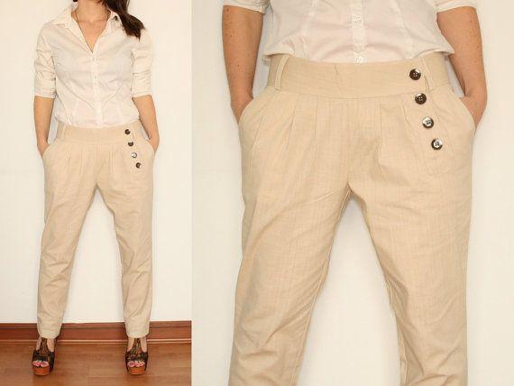 Elegant Beige Linen Pants For Women White Black Wool Twill Amp More