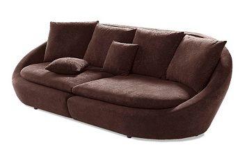 Dieses moderne #Sofa in runder Form ist garantiert ein Hingucker! Mit losen Rücken- und Zierkissen. Ein stabiles Holzuntergestell und die atmungsaktive Polyätherschaumpolsterung sorgen für den bequemen Sitz. www.otto.de