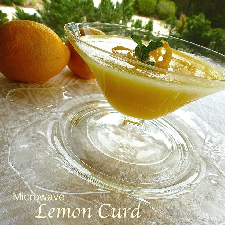 Microwave Lemon Curd | Microwave | Pinterest