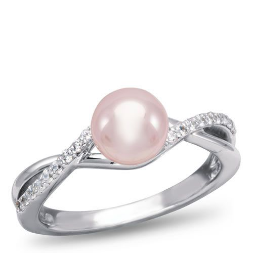 pink pearl engagement ring weddings pinterest With pink pearl wedding rings