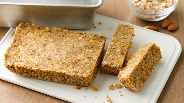 Overnight oatmeal bars. Perfect for on the go breakfast.