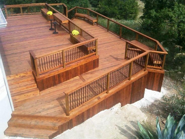 Inspiring Split Level Deck Plans Photo Home Building Plans 18609