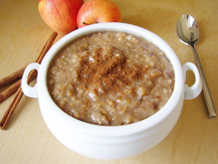 Apple cinnamon slow cooker steel-cut oatmeal   Recipe