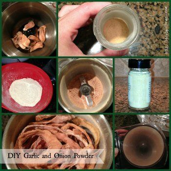 Garlic Onion Powder Collage DIY Garlic Powder and Onion Powder