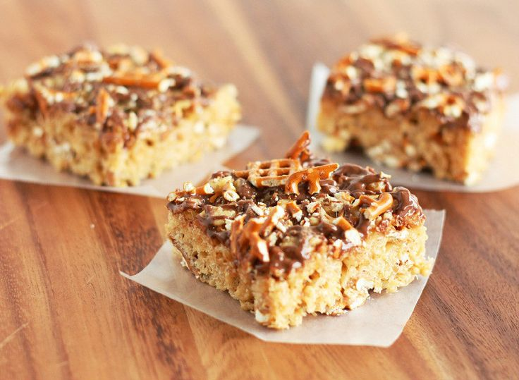 Peanut butter pretzel rice krispie treats cooking classy