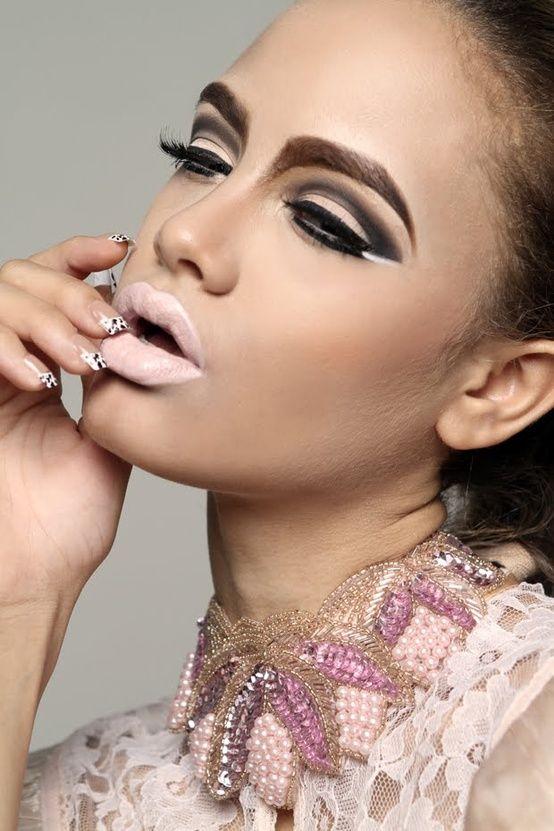 editorial makeup- 1960's makeup | Make-up | Pinterest