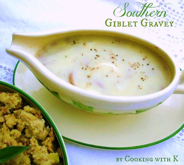 Old Fashioned Southern Giblet Cornbread Gravy Recipe