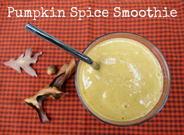 Pumpkin Spice (Protein) Smoothie 1 frozen banana 1/2 cup canned ...