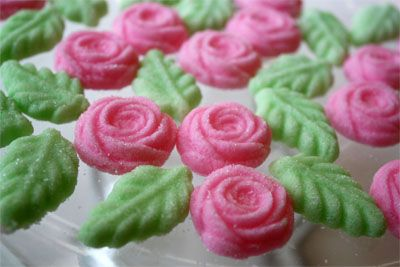 A recipe for cream cheese mints, a pretty treat or favor for a wedding brunch or shower.