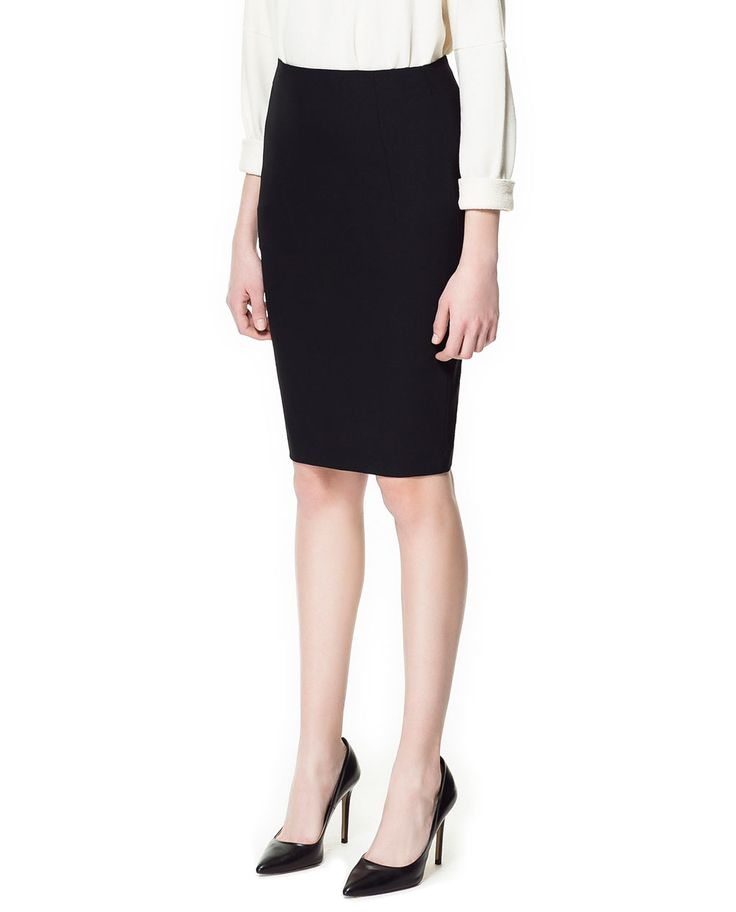 pencil skirt basic from zara style finds at zara