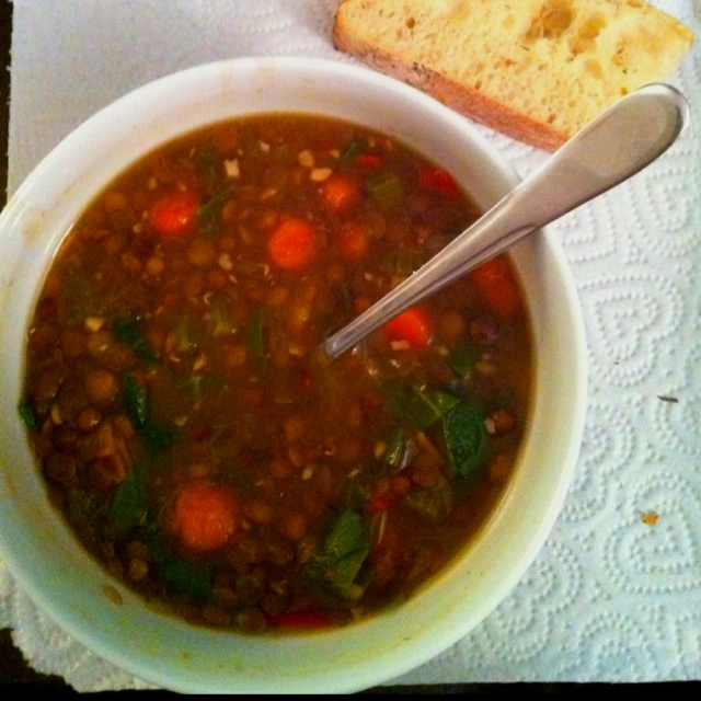 Lentil, carrot & rainbow chard soup | Food and Drink | Pinterest