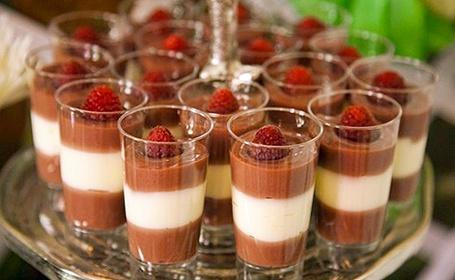 Raspberry Fruit Dainties - miniature parfaits of fruit curd layered ...