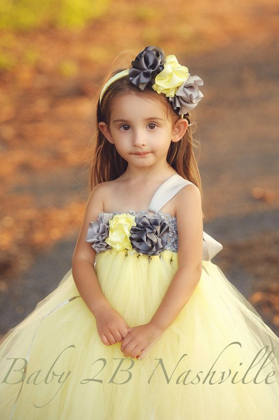 Yellow Flower Girl Dresses For Baby 104