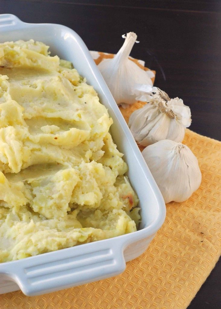 Roasted Garlic Mashed Potatoes Recipe — Dishmaps