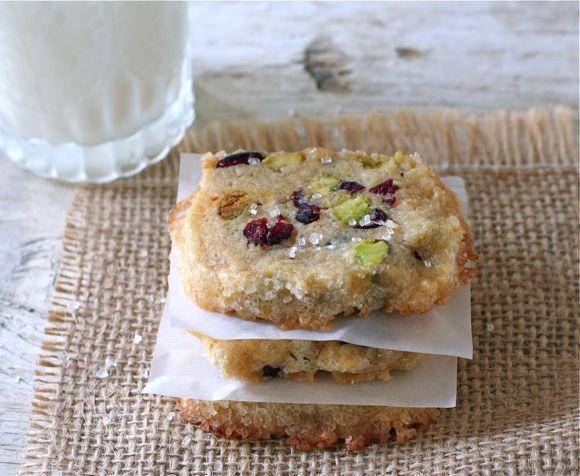 Cranberry Pistachio Icebox Cookies by Liz the Chef