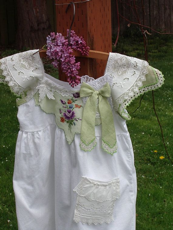 Rustic Flower Girl Dress Frock Vintage Inspired By Hankietankie Jam