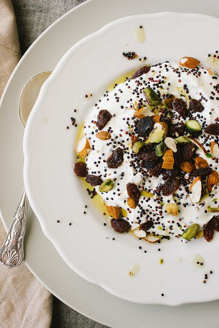 Yoghurt with Toasted Quinoa, Nuts and Fruit by simpleprovisions, via ...