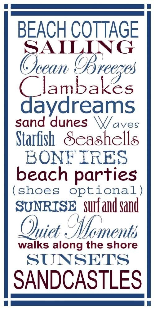 A few of my favorite things about the beach