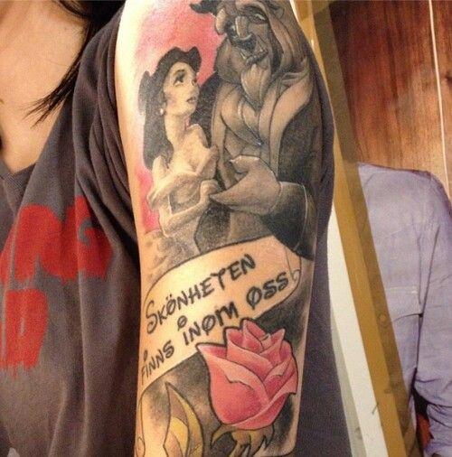 Beautiful beauty and the beast tattoo | TATTOOS...xo ...