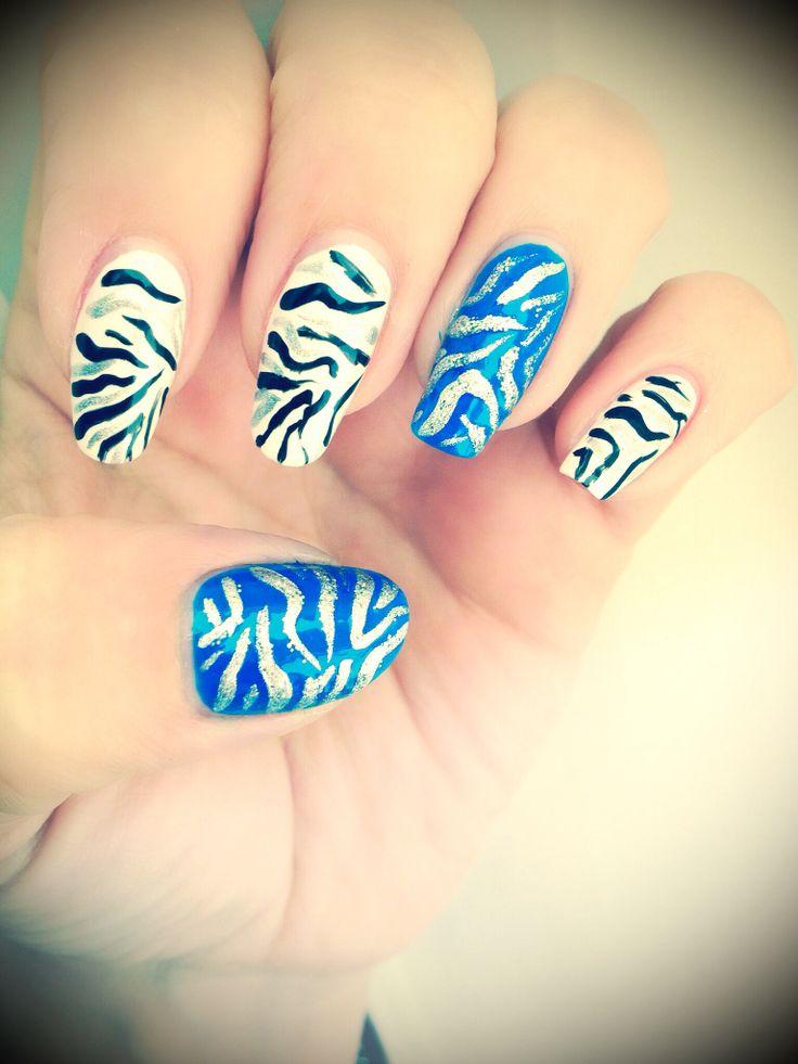 Zebra Print Nail Designs Pinterest 92
