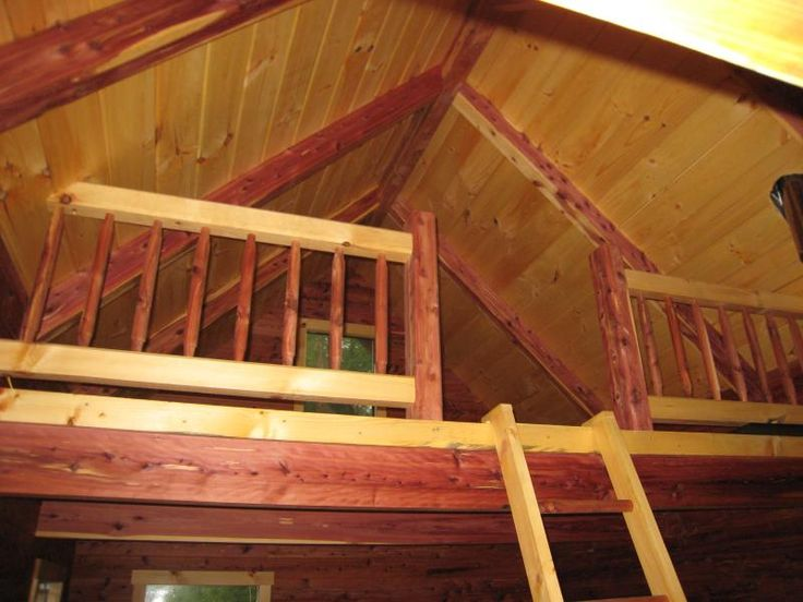 Cabin loft cabin ideas pinterest for Cabin designs with lofts