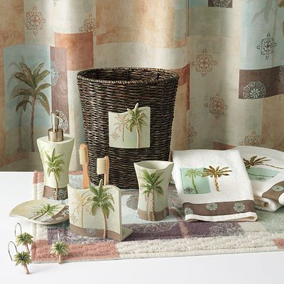 Pin by mandy kay on new apartment ideas pinterest for Palm tree bathroom ideas