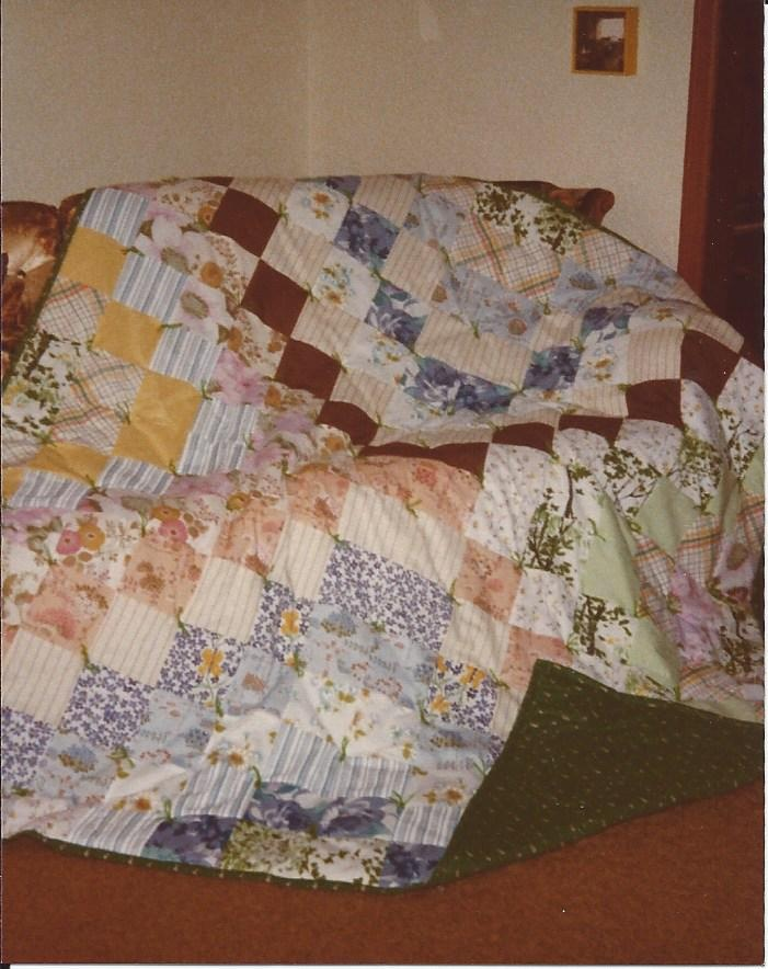Howard's tied quilt - 1979