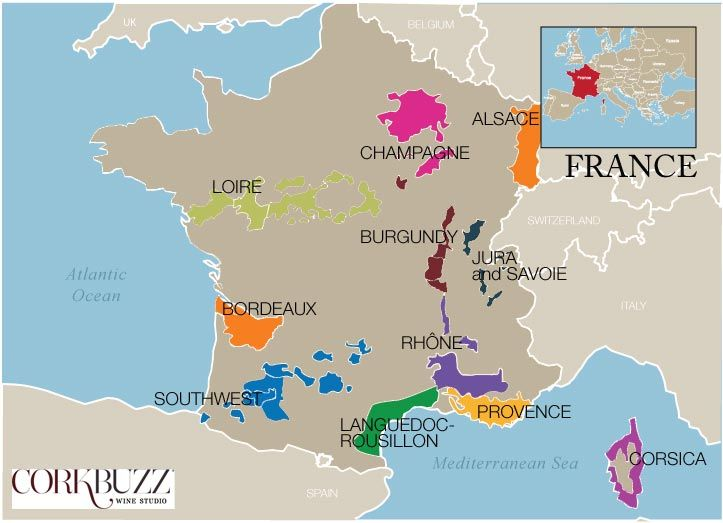 France wine region map wines other ways pinterest for Champagne region in france
