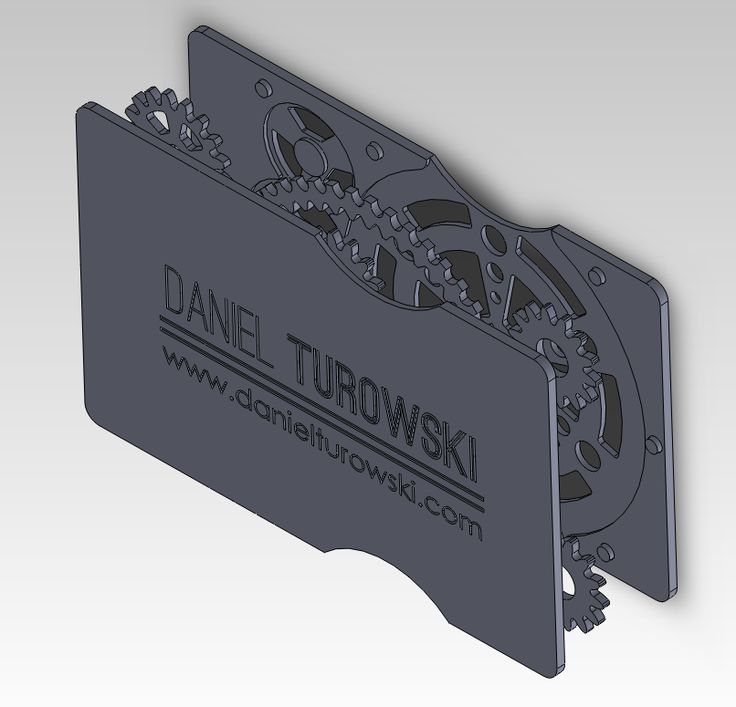 Laser cut mechanical business card Laser Cutting
