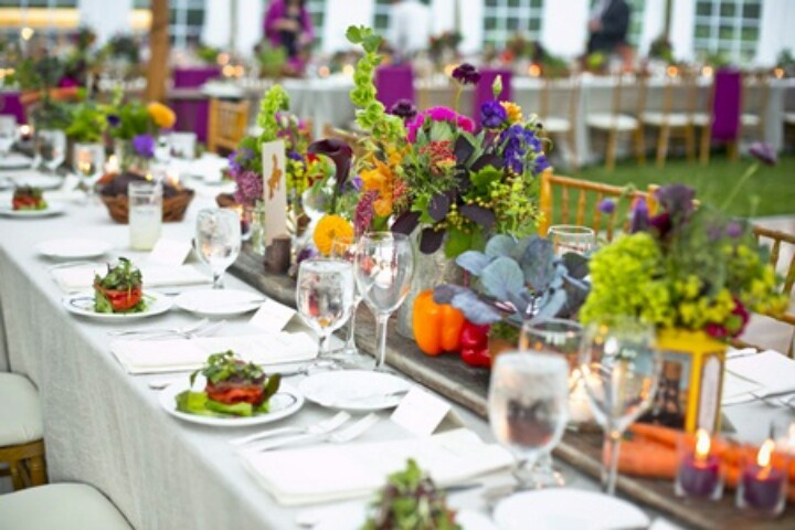 Gorgeous Outdoor Table Arrangement The Language Of Love