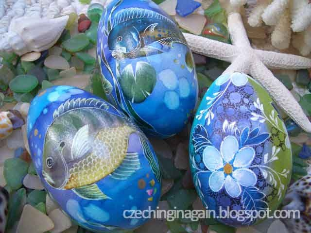 Beautifully decorated eggs by my grandma