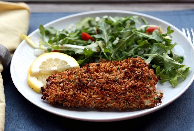 Super crisp oven baked fish dinner pinterest for Oven baked fish recipes