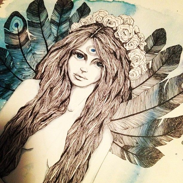 A beautiful Illustration, she is so romantic.    Credits: @raychponygold » Instagram Profile » Followgram