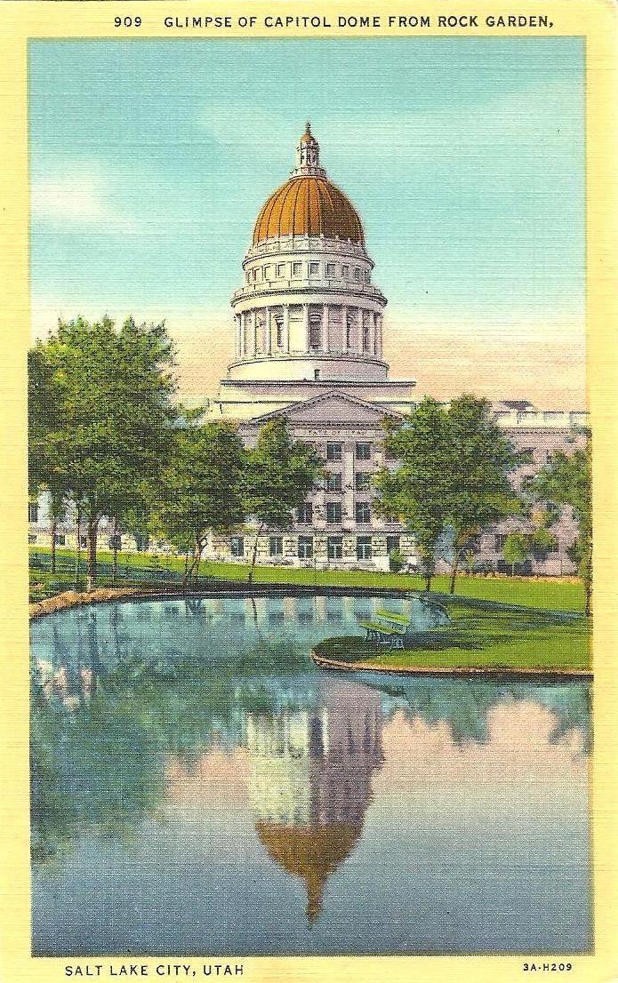 Salt lake city utah capitol dome from rock garden ut for Landscaping rocks in salt lake city